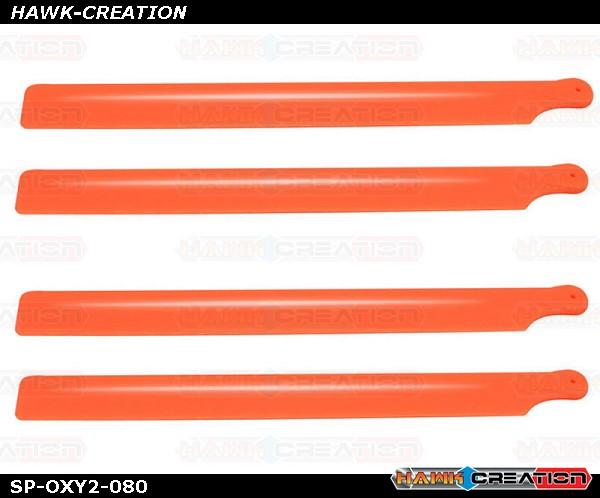 OXY2 - Plastic Main Blade 210mm, 2 set, Orange