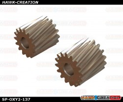 OXY2 - Helicoidal Pinion 15T, 16T - 2.5mm Motor Shaft