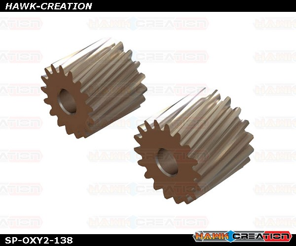 OXY2 - Helicoidal Pinion 17T, 18T - 2.5mm Motor Shaft - OXY2