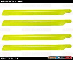 OXY2 - Plastic Main Blade 210mm, 2 set, Yellow