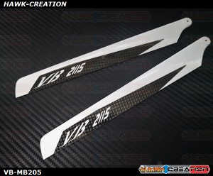 VB 205mm Carbon Main Blades - OXY2