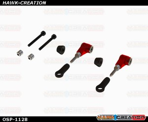 OXY3 OXY4 CNC Alu DFC Arm, Set - Red