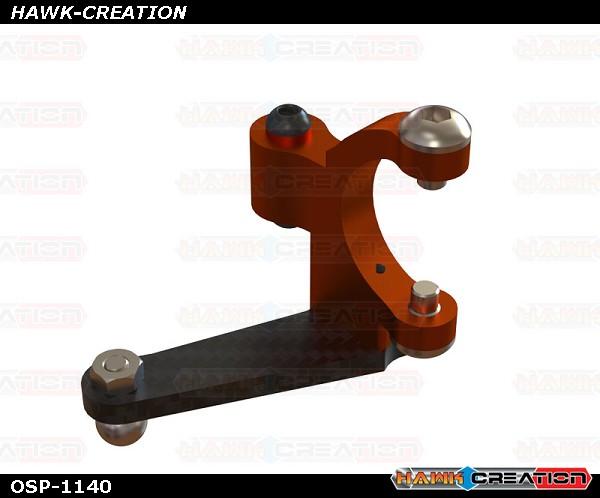 OXY3 CNC Alu Tail Bell Crank, Orange