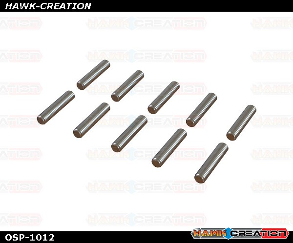OXY4 Threaded Rod M2x10, 10Pcs