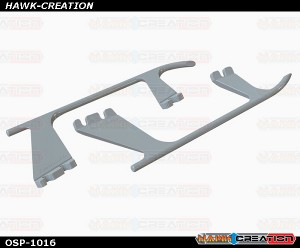 OXY4 Landing Gear Skid, White
