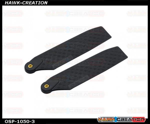 OXY4 Tail Blade 62mm - Carbon Look Black