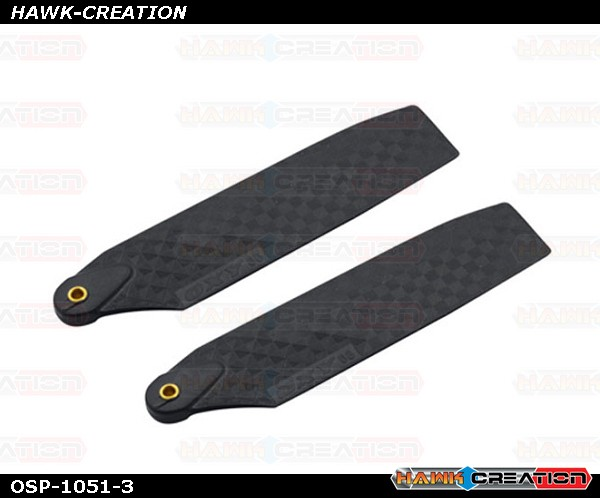 OXY4 Tail Blade 68mm - Carbon Look Black
