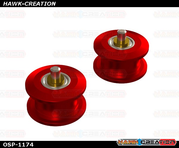 OXY4 CNC Belt Pulley Guide, Red