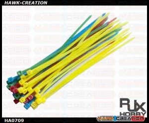 RJX Cable Binder (Mix Colors, 40pcs) 2.5x100mm