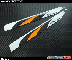 RJX  RAZOR  Orange  382mm Premium CF Blades-FBL Version