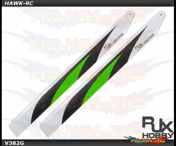 RJX Vector Green 382mm Premium CF Blades-FBL Version (XL Version) (OXY4MAX)