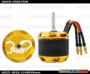 Scorpion HKIII-4020-1100KV (6mm Shaft)