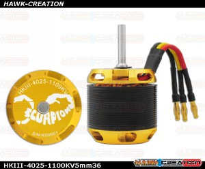 Scorpion HKIII-4025-1100KV (5mm / 36mm shaft )