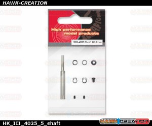 Scorpion HKIII-4025 shaft kit 5mmHK_III_4025_5_shaft