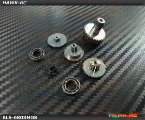 ServoKing BLS-6803 Complete Servo Gear Set (Include Bearings)