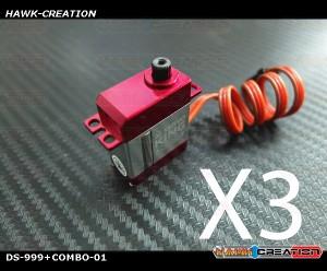 ServoKing DS-999+ CCPM Micro Servo Combo (3pcs)