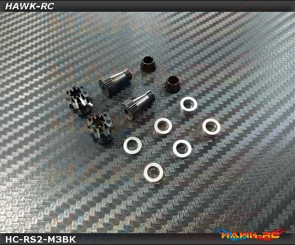Hawk Creation Anti-Slip and Adjustable Stick Rocker End For Futaba & Spektrum (M3, Black, 8FG, T14SG, DX7S/8 , DJI ,FrSky Taranis Plus)