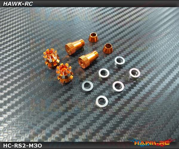 Hawk Creation Anti-Slip And Adjustable Stick Rocker End For Futaba & Spektrum (M3, Orange, 8FG, T14SG, DX7S/8 , DJI ,FrSky Taranis Plus)