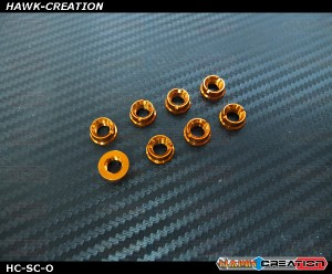 Hawk TX Switch Cap Orange ( Flat Bottom, Futaba, Frsky X9D )