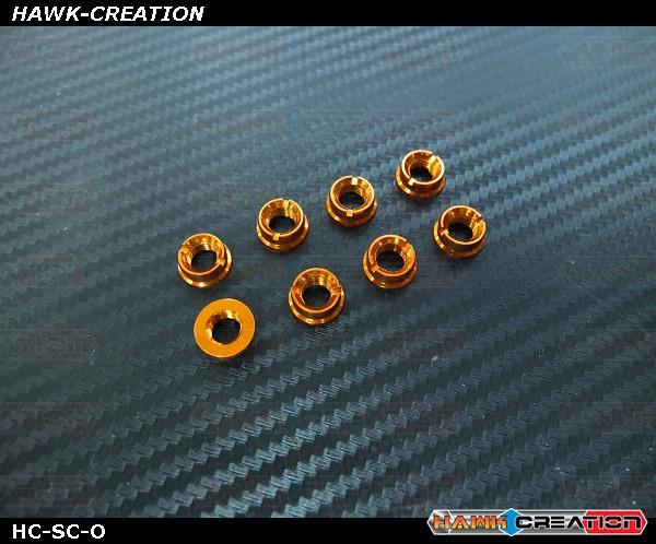 Hawk TX Switch Cap Orange ( Flat Bottom, Futaba, Frsky X9D )
