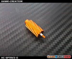 Hawk Creation CNC 7075 Alloy Slant Roller Button For Spektrum DX6i,7S,8,9 (Orange) - New