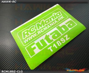 FUTABA 18SZ Protector Wraps Skin Carbon Light Green (FREE Upper & Screen Protector)