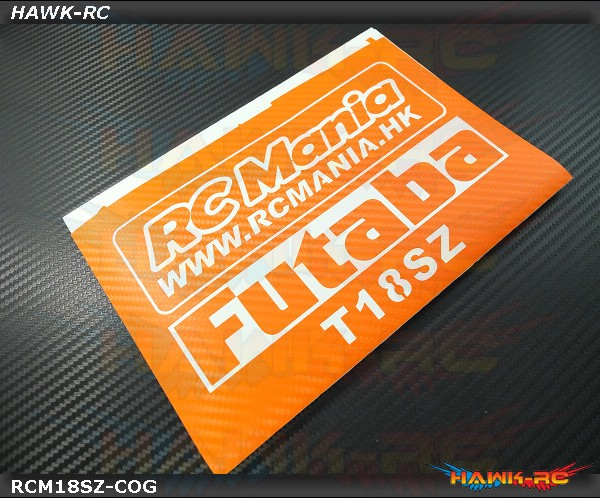 FUTABA 18SZ Protector Wraps Skin Carbon Orange (FREE Upper & Screen Protector)