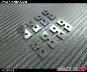 Hawk Creaction Carbon Fiber Standard Size Servo Plate 8 pcs