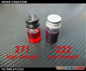 High 271 & Low 222 Strength Thread Locker Set