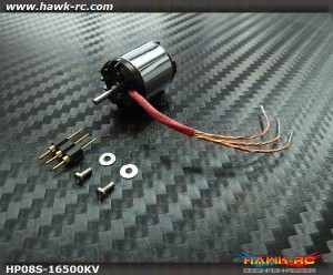 Hawk Creation HP08S 1S 16500KV Outrunner