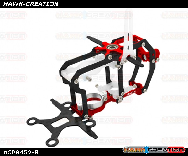 CNC AL and CF Main Frame Set (Red) - Blade Nano CP S