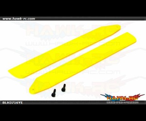 Hi-Performance Main Rotor Blade Set, Yellow: 130 X