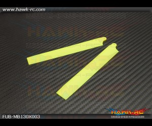 FUSUNO XS Plastic Neon Main Blade 135 mm Yellow - 130 X