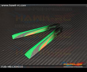 FUSUNO Extreme Stiff 135mm Neon Green Main Blades - 130 X