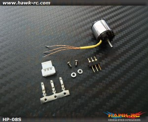 Hawk Creation HP08S(Long Shaft) 2S 7600KV Outrunner +11T