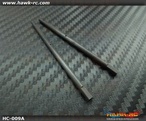 Hawk Creation 4mm Solid Carbon Main Shaft (2pcs) For 130 X