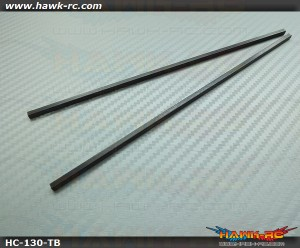 Hawk Creation High Quality 3mm CF Square Tail Boom For 130 X (2pcs)