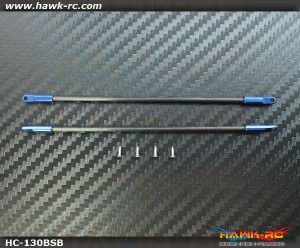 Hawk Creation CNC Extend Boom Support Set Blue For 130X