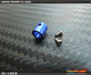 Hawk Creation CNC 4mm Main Shaft Collar (Blue) For 130 X