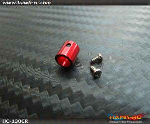 Hawk Creation CNC 4mm Main Shaft Collar (Red) For 130 X