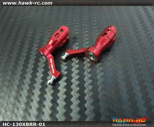 Hawk Creation CNC Main Blade Grips (Red) For 130X