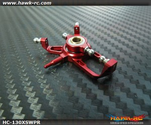 Hawk Creation CNC CCPM Swashplate (Red) For 130X