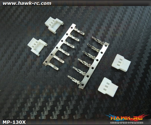 Hawk Creation High Current Micro Size 3pins Motor Plug (2 Sets, 130X)