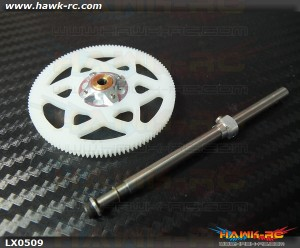 LYNX 130 X One Way Hub Assembly 116T Main Gear Complete Set