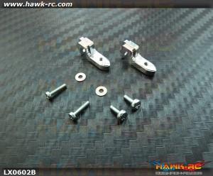 LYNX Universal Rotative Tail Servo Support (Silver) 130 X