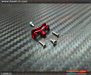 LYNX Tail Boom Clamp V2 Red For CF Push Rod - 130X