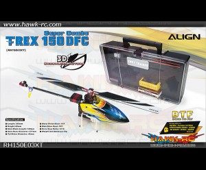 T-REX 150 DFC Super Combo BTF + Carry Box-Yellow