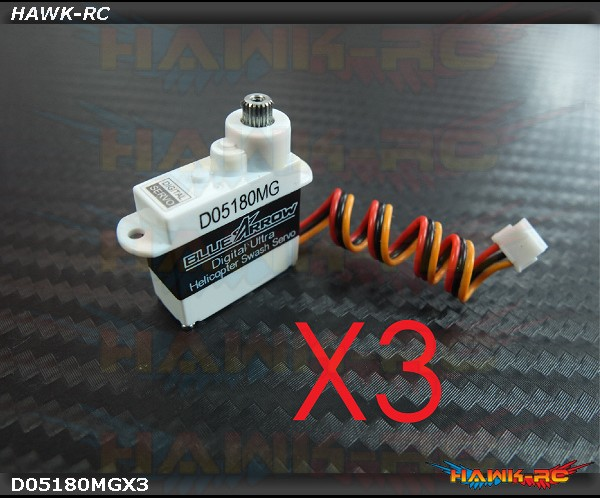 Programable D05180MG Full Metal Gear Micro Size Servo180 CFX Hard 3D Edition Combo (3pcs)