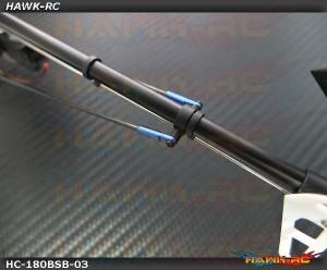 Hawk Creation CNC Boom Support Set Blue For 180 CFX