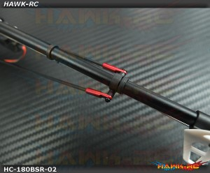 Hawk Creation CNC Boom Support Set Red For 180 CFX